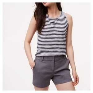 LOFT Riviera Khaki Shorts Size 4